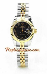 Rolex Replica Datejust Two Tone Ladies Watch 18