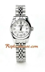 Rolex Replica Datejust Silver Ladies Watch 10