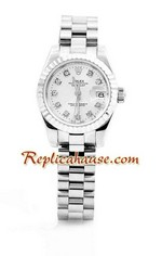 Rolex Replica Datejust Silver Ladies Watch 06