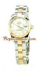 Rolex Replica Ladies Datejust Pink Gold Watch 01