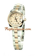 Rolex Replica Ladies Datejust Pink Gold Watch 03