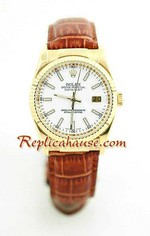 Rolex Datejust Leather Replica Watch 15