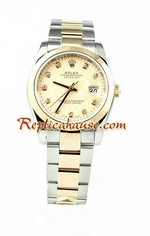 Rolex Replica Datejust Mens Watch - Pink Gold 01