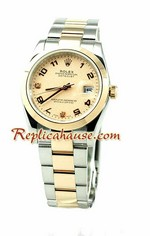 Rolex Replica Datejust Mens Watch - Pink Gold 03