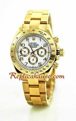 Rolex Daytona Gold White Face 14
