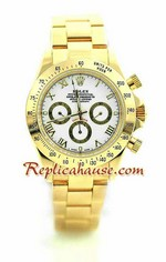 Rolex Daytona Gold White Face 18
