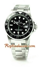 Rolex Replica GMT Watch - Black Bezel 2009 Edition 01