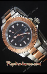Rolex Yachtmaster Two Tone Rose Gold Swiss Watch 07