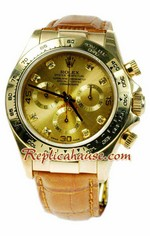 Rolex Replica Daytona Gold Swiss Watch 06