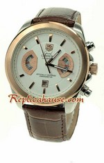 Tag Heuer Grand Carrera Leather Replica Watch 01