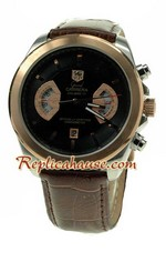 Tag Heuer Grand Carrera Leather Replica Watch 02