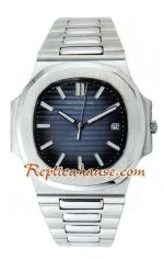 Patek Philippe Mens Blue Swiss Nautilus 2012 Replica Watch 01