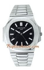 Patek Philippe Black Mens Swiss Nautilus 2012 Replica Watch 02