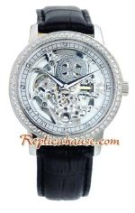 Vacheron Constantin Skeleton Automatic Diamond Markers with Silver Case-Leather Strap 2012 Replica Watch 03