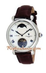 Vacheron Constantin Tourbillon Automatic with White Dial-Leather Strap 2012 Watch 1