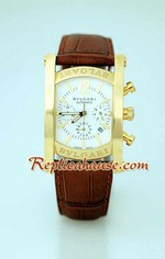 Bvlgari Assioma White Dial Gold Replica Watch 6