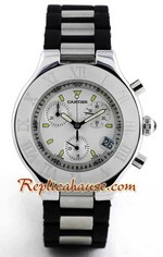 Cartier Replica Ligne Chronoscaph White Face