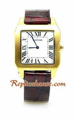 Cartier Dumont Leather Replica Watch 01