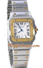 Cartier Santos Two Tone Mens