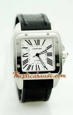 Cartier Santos 100 Swiss Replica Watch 1