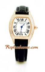 Cartier Tortue Swiss Ladies Replica Watch 2<font color=red>หมดชั่วคราว</font>