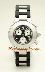 Cartier Replica Ligne Chronoscaph Black Face