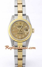 Rolex DateJust Two Tone Ladies - 28