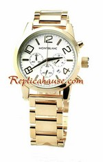 Mont Blanc Timewalker Gold Replica Watch