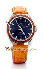 Omega Seamaster - Planet Ocean Leather Watch 1