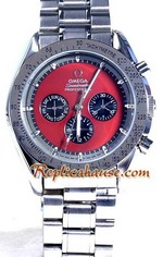 Omega Speedmaster Red Face