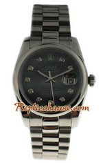 Rolex Datejust Silver - Black Pearl watch 01