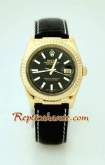 Rolex Datejust Leather Replica Watch 11