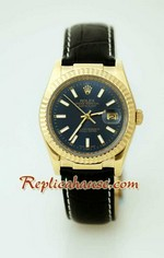Rolex Datejust Leather Replica Watch 10
