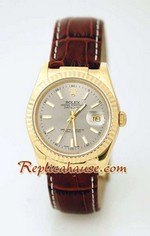 Rolex Datejust Leather Replica Watch 3