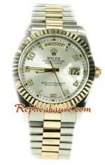 Rolex Day Date Two Tone Swiss Replica watch 05
