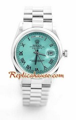 Rolex Day Date Silver Swiss Watch 3