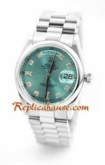 Rolex Day Date Silver Swiss Watch 2