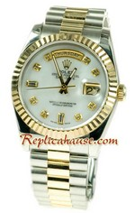 Rolex Day Date Two Tone Swiss Replica watch 08