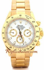 Rolex Daytona Gold White Face 1