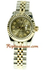 Rolex Replica Datejust Two Tone Ladies Watch 44