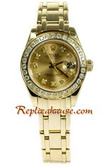 Rolex Replica Datejust Gold Ladies Watch 40