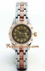 Rolex DateJust Two Tone Ladies - 22