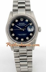 Rolex DateJust Blue Face