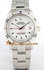 Rolex DateJust Turn O Graph White Face