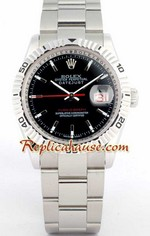 Rolex DateJust Turn O Graph Black Face