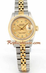 Rolex DateJust Two Tone Ladies - 12