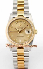 Rolex Day Date Two Tone Swiss Replica watch 01