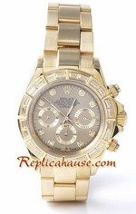 Rolex Replica Daytona Gold Diamond - 09<font color=red>หมดชั่วคราว</font>