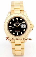 Rolex Yacht Master Gold Black Face 1