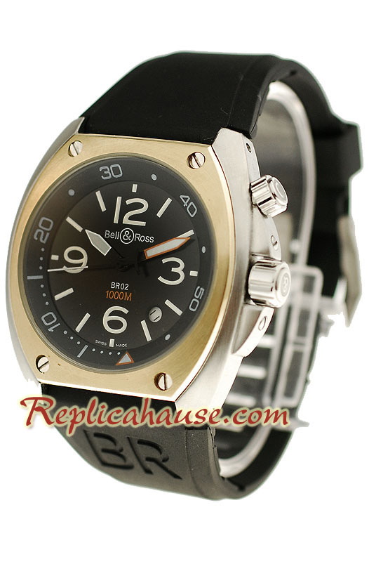 Bell and Ross BR 02 Steel Replica Watch 4